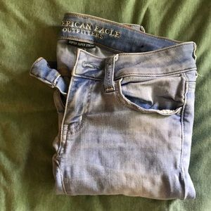 American Eagle super skinny ripped jeans